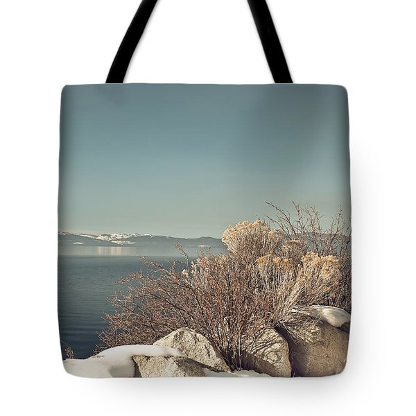 Lake Tahoe Winter Tote Bag by Kim Hojnacki