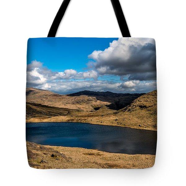 Lake Teyrn Snowdonia Tote Bag by Adrian Evans