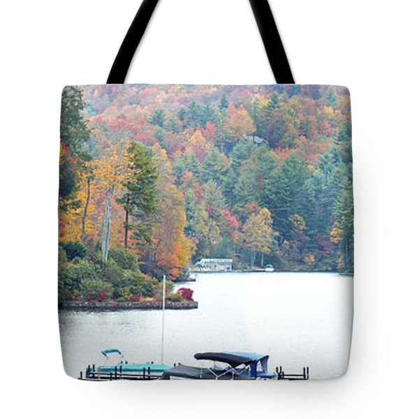 Lake Toxaway In The Fall Tote Bag