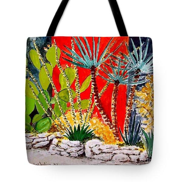 Lake Travis Cactus Garden Tote Bag