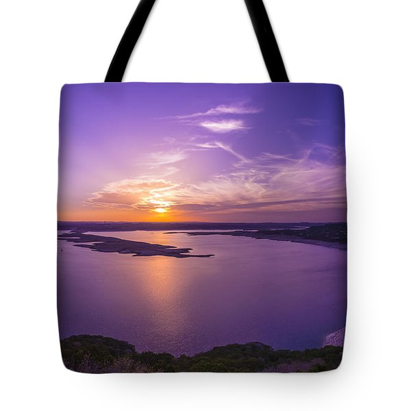 Lake Travis Sunset Tote Bag