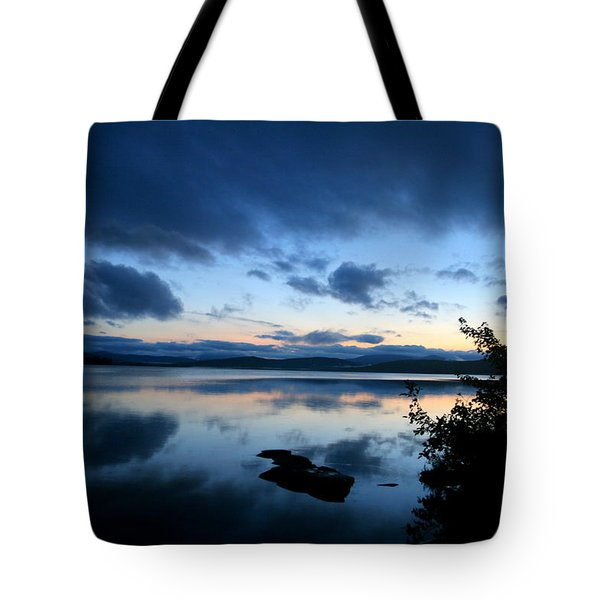 Lake Umbagog Sunset Blues No. 2 Tote Bag