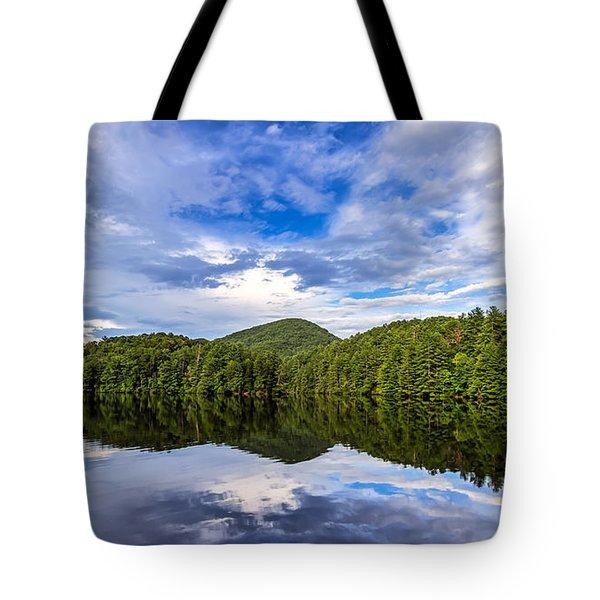 Tote Bag featuring the photograph Unicoi Lake by Bernd Laeschke
