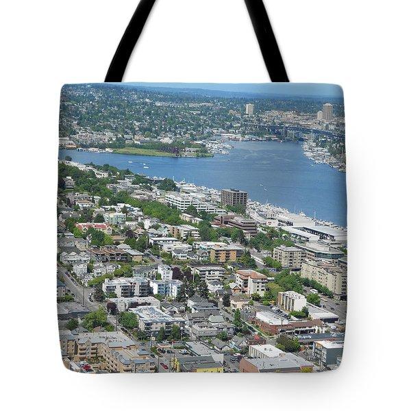 Lake Union Panorama Tote Bag