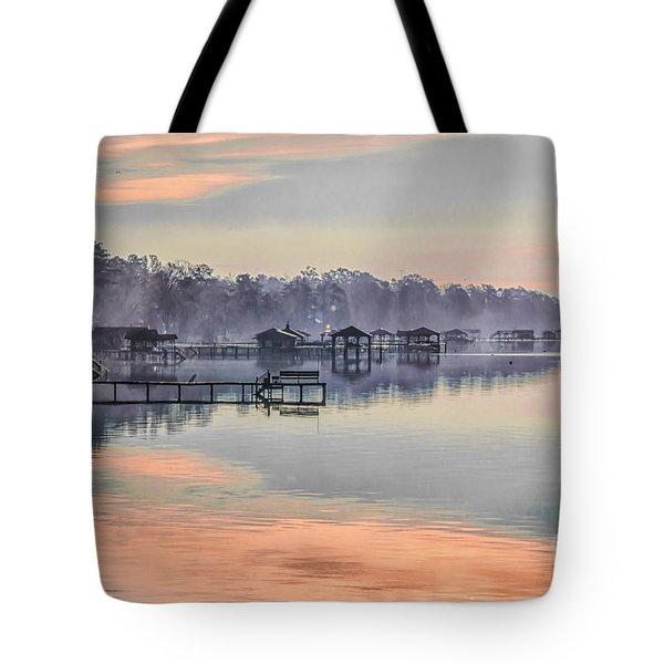 Lake Waccamaw Morning Tote Bag