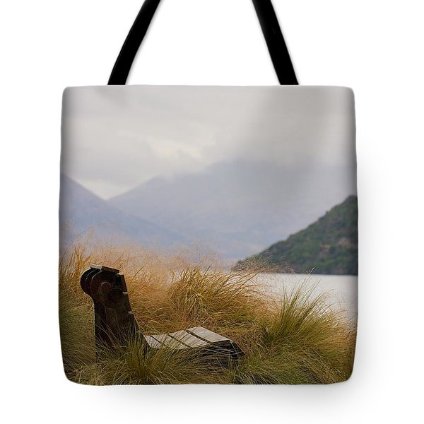 Lake Wakatipu Bench Tote Bag