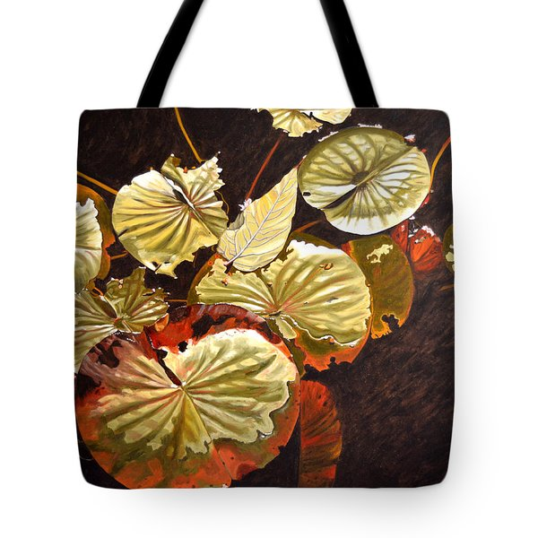 Lake Washington Lily Pad 11 Tote Bag