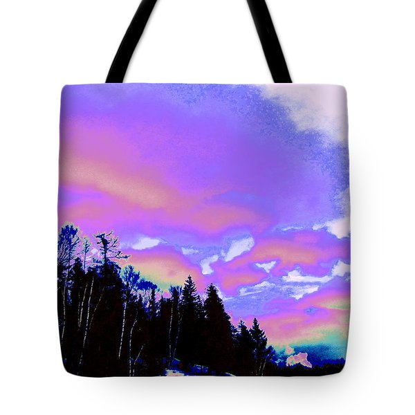 Winter  Snow Sky  Tote Bag