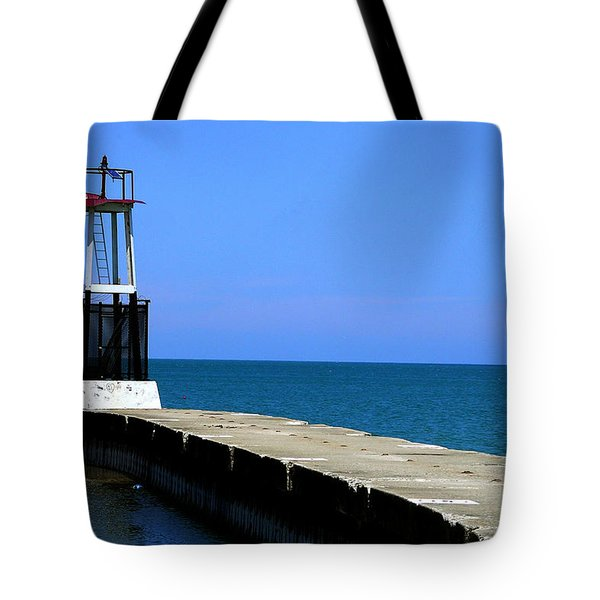 Lakefront Pier Tower Tote Bag