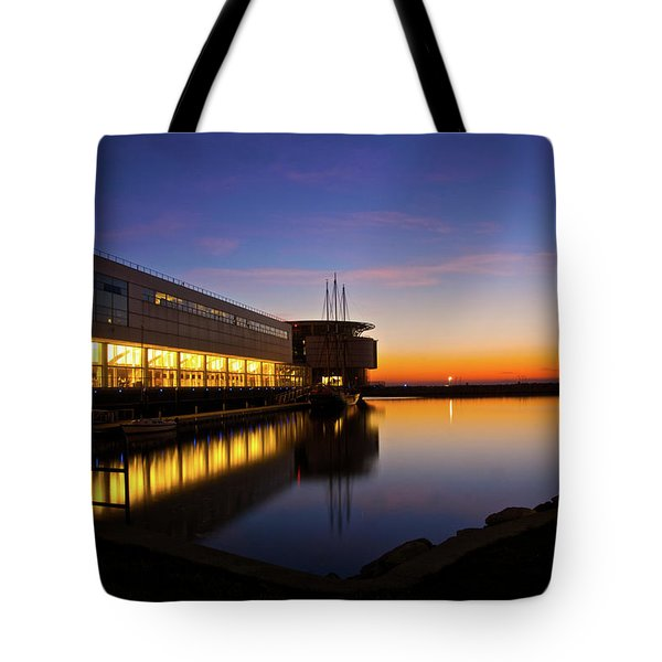 Lakefront Sunrise Tote Bag by Jonah  Anderson