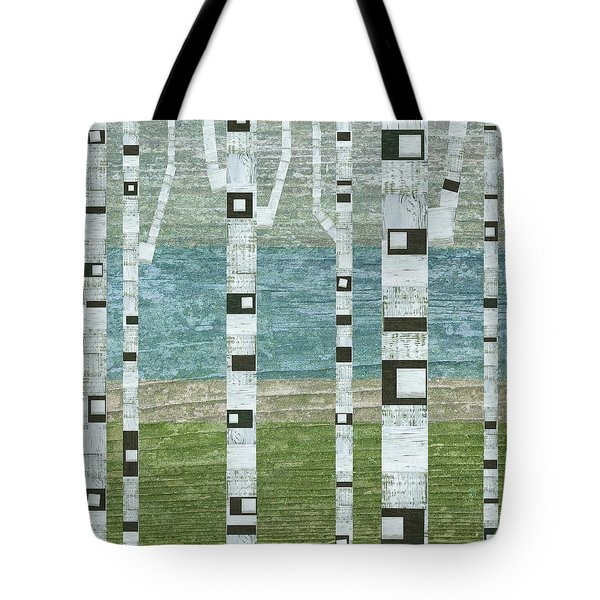 Lakeside Birches Tote Bag