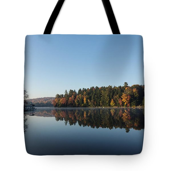 Lakeside Cottage Living - Peaceful Morning Mirror Tote Bag