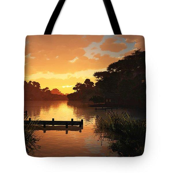 Lakeside Tote Bag by Cynthia Decker