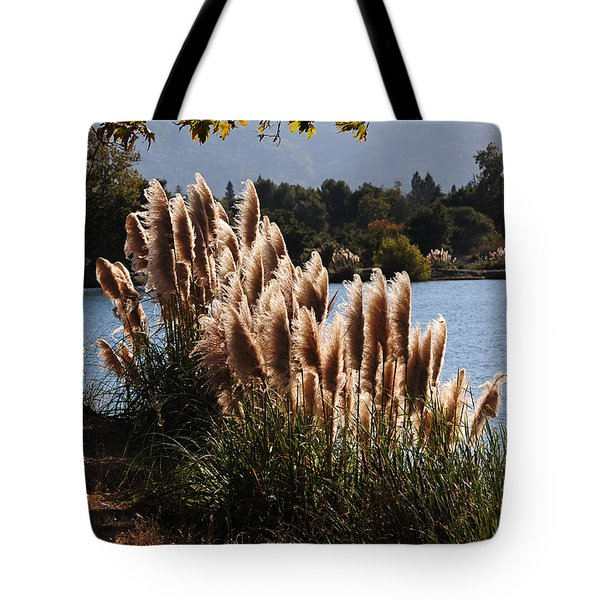 Lakeside In Early Autumn Tote Bag