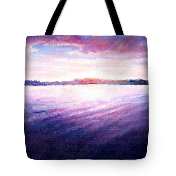 Lakeside Sunset Tote Bag by Shana Rowe Jackson
