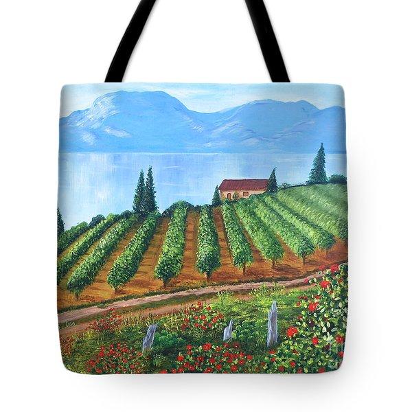 Lakeside Vineyard Tote Bag