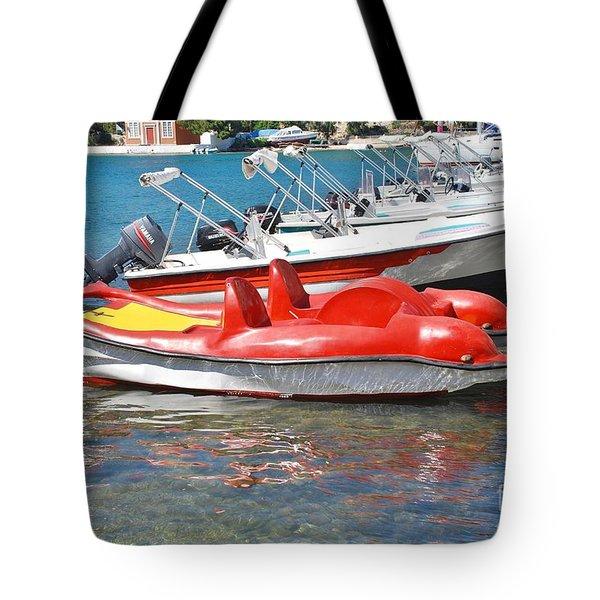Lakka Harbour Paxos Tote Bag