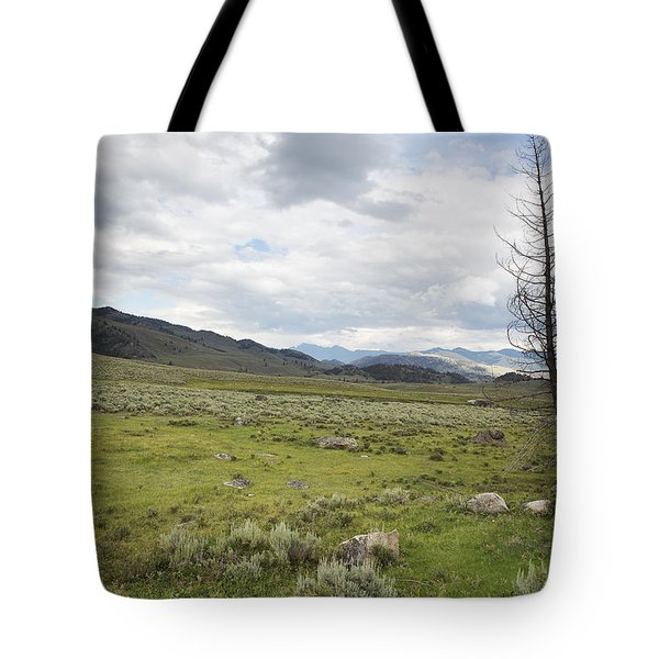 Tote Bag featuring the photograph Lamar Valley No. 1 by Belinda Greb