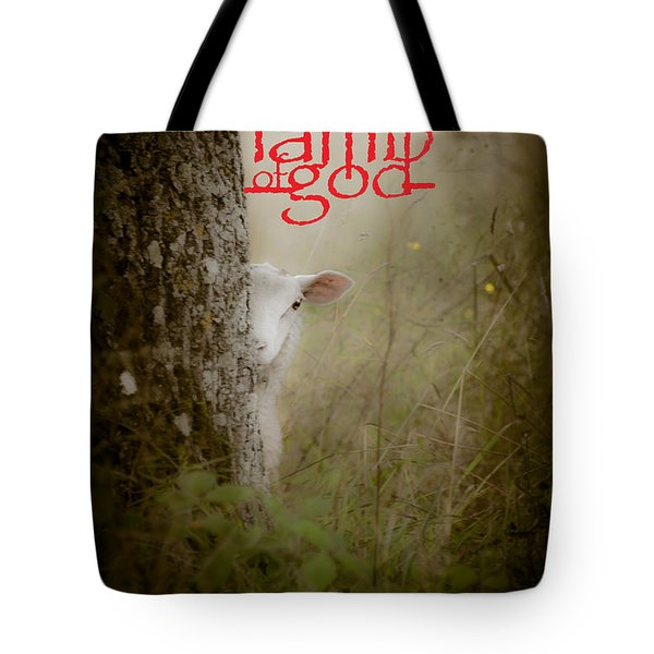 Lamb Of God Book Cover Tote Bag by Loriental Photography