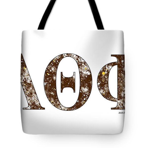 Tote Bag featuring the digital art Lambda Theta Phi - White by Stephen Younts