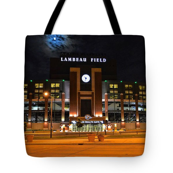 Lambeau Field At Night Photograph By Tommy Anderson
