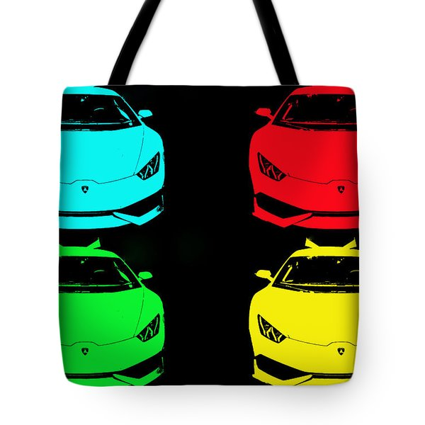 Lambo Pop Art Tote Bag