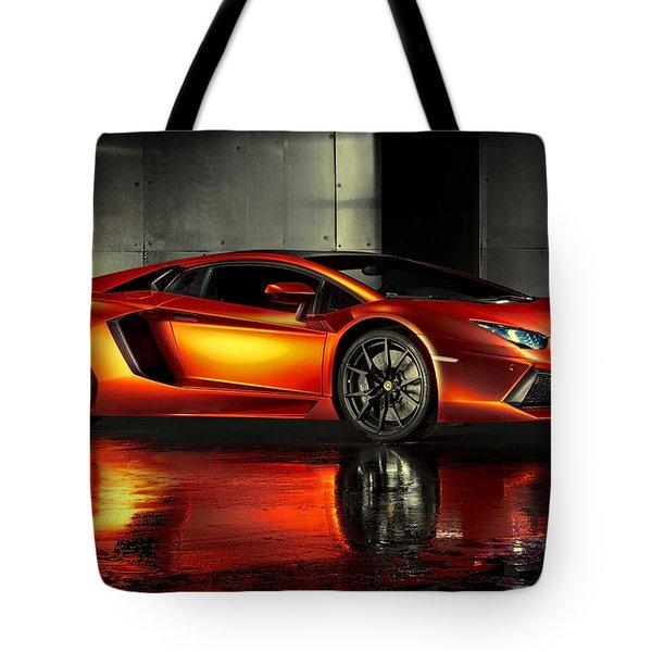 Lamborghini Aventador Tote Bag by Movie Poster Prints
