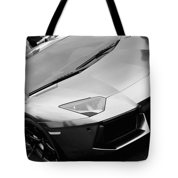 Black And White Shine Tote Bag