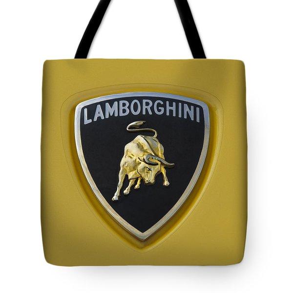 Lamborghini Emblem 2 Tote Bag by Jill Reger