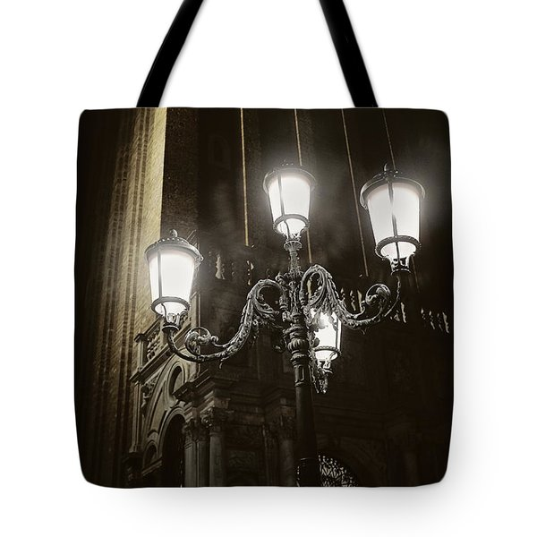 Lamp Light St Mark's Square Tote Bag