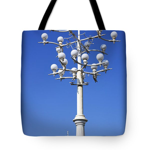 Lamp Post And Flag Georgia Tote Bag by Robert Preston