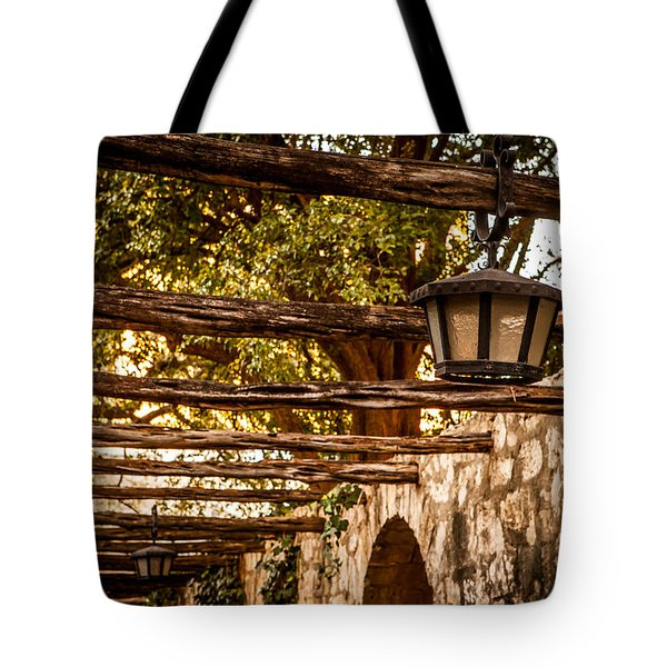 Lamps At The Alamo Tote Bag