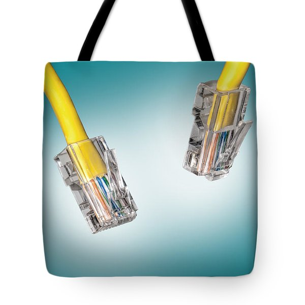 Lan Cable Close Up Tote Bag by Shaun Wilkinson