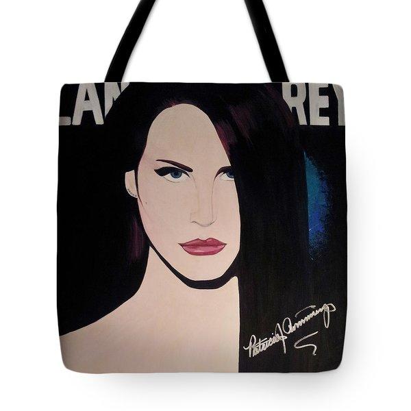 Lana Del Rey Blue Eyes Tote Bag