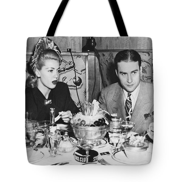 Lana Turner And Artie Shaw Tote Bag