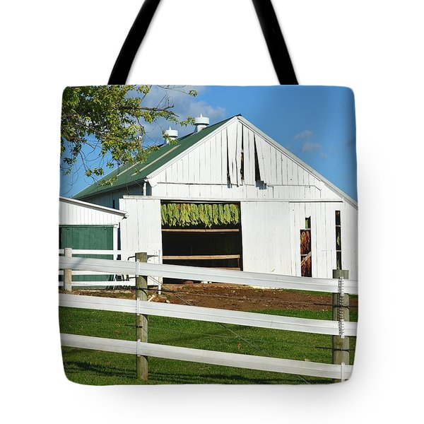 Lancaster County Tobacco Barn Tote Bag