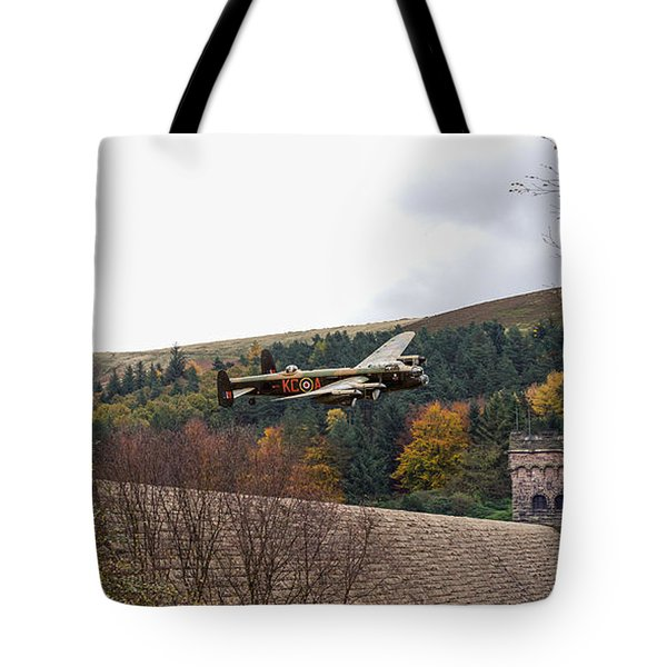 Lancaster Kc-a At The Derwent Dam Tote Bag