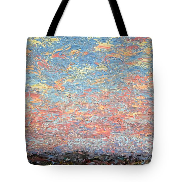 Land And Sky 3 Tote Bag by James W Johnson