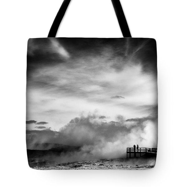 Land Of Fire Tote Bag by Dave Bowman