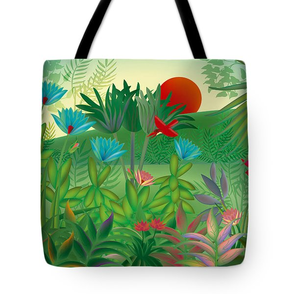 Land Of Flowers - Limited Edition 2 Of 15 Tote Bag by Gabriela Delgado
