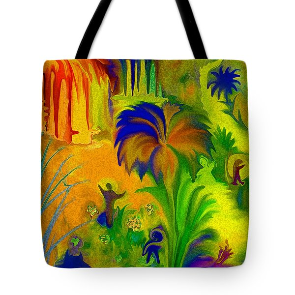 Tote Bag featuring the digital art Land Of Little Peeps by Sherri  Of Palm Springs