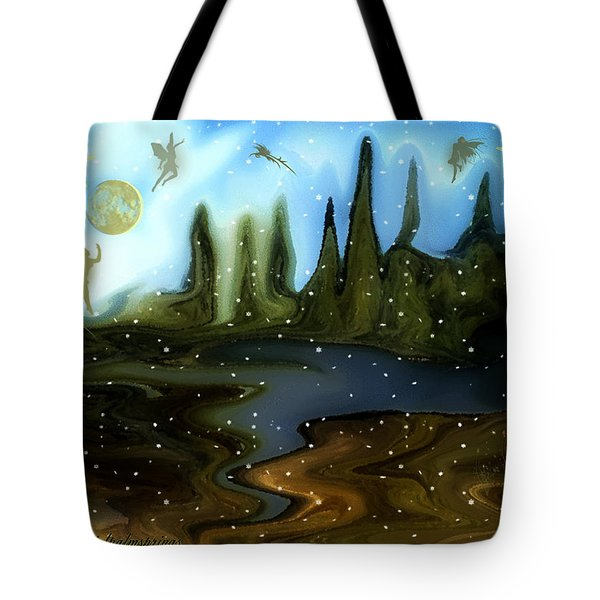 Tote Bag featuring the painting Land Of The Fairies  For Kids by Sherri  Of Palm Springs