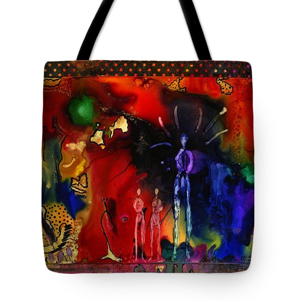 Land Of The Giants Tote Bag by Angela L Walker