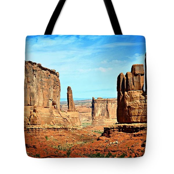 Land Of The Giants Tote Bag by Marty Koch