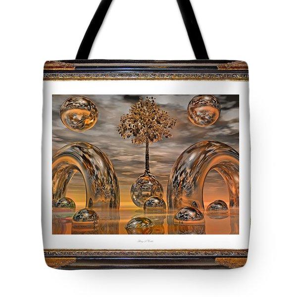 Land Of World 8624042 Framed Tote Bag by Betsy Knapp