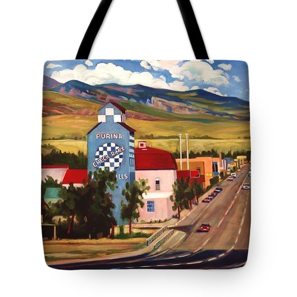 Tote Bag featuring the painting Lander 2000 by Art James West