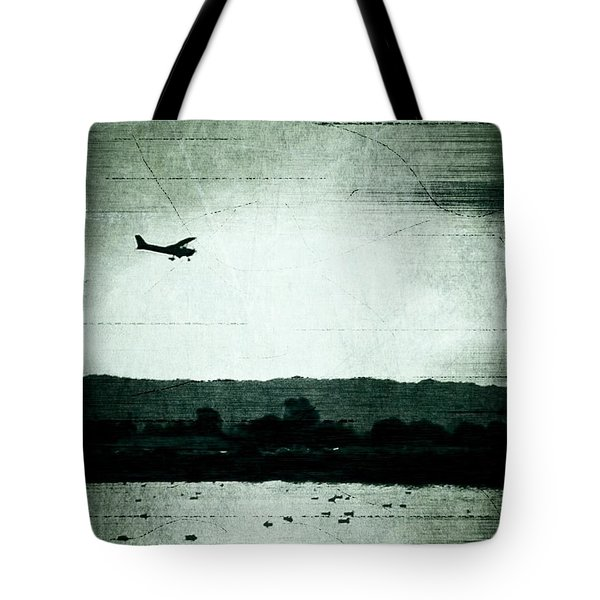 Landing At Sunset Tote Bag