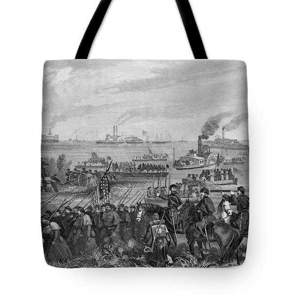Landing Of Troops On Roanoke Island, Burnside Expedition, 8th February 1862, Engraved By George E Tote Bag
