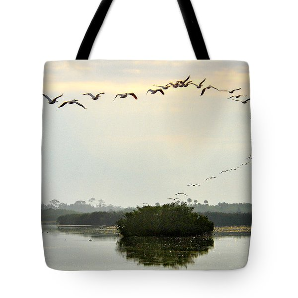 Landing Pattern Tote Bag by William Beuther