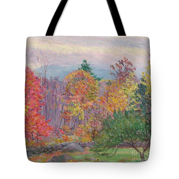 Landscape At Hancock In New Hampshire Tote Bag by Lilla Cabot Perry